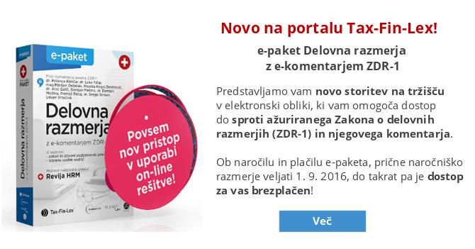 e-paket Delovna razmerja